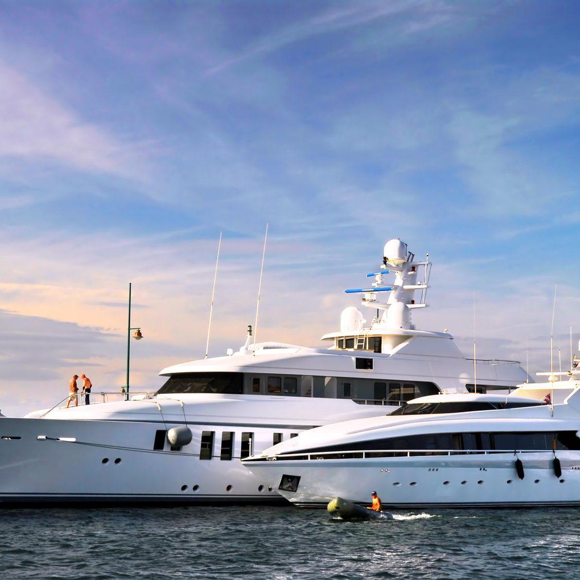 Large luxury yachts
